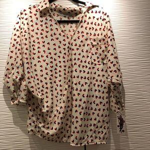 Jules & Jim heart print Maternity Shirt M